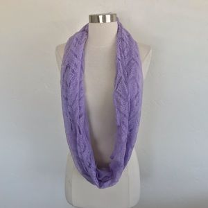 Icing Purple Mixed Media Infinity Scarf 27.5x12 in